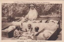 CARTOLINA - CAMERUN - YAOUNDE - A L' ORPHELINAT LES BERCEAUX- LES SOEURS MISSIONNAIRES - Camerun