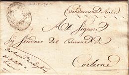 Pref. Corleone Per Città, Lettera Con Contenuto Dalla Gendarmeria Reale 1836 - 1. ...-1850 Prefilatelia