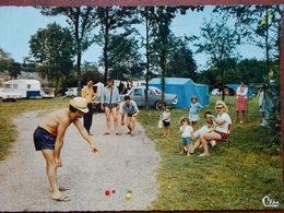 58 - DECIZE - Le Terrain De Camping. (Partie De Boules) CPSM Rare - Decize