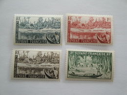 1947 Guyane Yv 204/7 **  MNH Bateaux Ships  Cote 2.60 €  Michel 233/6   Scott 195/8  SG  227/30 - Guyane Française (1886-1949)