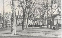 SOUVIGNY PLACE AUX FOIRES ANIMEE EN 1916 PHOTO MARNAS- MOULINS EDITEUR DESVAUX - Sonstige Gemeinden