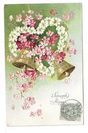 CARTE GAUFREE: Joyeuses Pâques... CLOCHES, FLEURS De POMMIER - Flowers