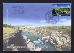 9.- MONTENEGRO 2017 FDC Nature Protection - The Cijevna River Canyon - Montenegro