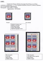 FRANCE - Blason / Armoiries De Paris 0,30 F - Type, NON DENTELÉ, Carnet Avec Pub Privée, Coins Datés, FDC, CM, CFA - Unused Stamps