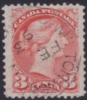 Canada   .    SG   .  Ottowa Printings   .    105     .     O    .    Cancelled     .   /    .   Gebruikt - 1851-1902 Regering Van Victoria