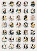 Joan Bennett Movie Film Fan ART BADGE BUTTON PIN SET 2 (1inch/25mm Diameter) 35 X - Films