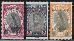 Ethiopia Scott # 220-2 Mint Hinged Zauditu, Tafari, Surcharged, 1931 - Ethiopia