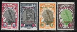 Ethiopia Scott # 225-6,227a Type1,228 Mint Hinged Zauditu, Tafari, Surcharged, 1931 - Ethiopia