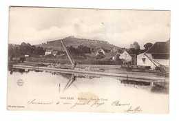 Train Chemins De Fer 18 Sancerre St Saint Satur Gare Du Canal Cpa Cachet + Timbre 1904 - Gares - Avec Trains
