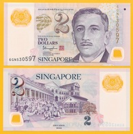 Singapore 2 Dollars P-46 2018 (three Stars On Back) UNC Banknote - Singapore