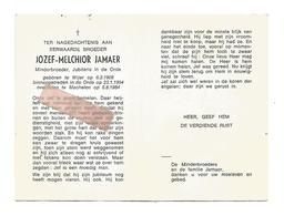 P 866. E.Broeder JOZEF-MELCHIOR JAMAER -Minderbroeder - °WIJER 1908 / +MECHELEN 1984 - Images Religieuses