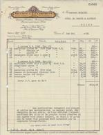 GENEVE RENAUD CLERMONT TRAITE ET FACTURE ARGENTERIE COUTELLERIE PORCELAINE  FOURNITURE POUR HOTEL ANNEE 1933 - Suisse