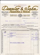 Rechnung Dennler & Sohn, Dampfbrennerei, Liqueur-Fabrik, Interlaken Und Zürich, 1920 - Suisse