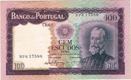 PORTUGAL- 100$00 CH. 6 A - 19-12-1961. - Portogallo