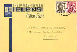 Bruxelles - Imprimerie Lielens, Rue De La Princesse (1938) - Brussel (Stad)