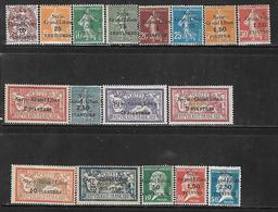 CD145  Syrie De 1923 N°88 à 104 N+ N°97 Obl - Siria (1919-1945)