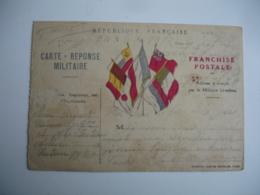 Carte Franchise Postale 5 Drapeaux Centre Edi Hermine  Guerre 14.18 - Marcophilie (Lettres)