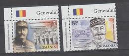 ROMANIA-ROUMANIE  - 2018 -  Général Henri Berthelot  - Emmision Commune  Roumanie-France 2 Val - Neufs - MNH** - Unused Stamps