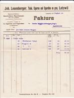 Rechnung Leuenberger ,Lotzwil, Tabak, Cigarren Und Cigaretten En Gros, 1920 - Suisse