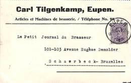 Eupen - Carl Tilgenkamp - Articles Et Machines De Brasserie (1922) - Eupen