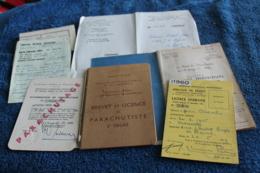 Lot De Documents D'un Parachutiste Années 60 - Documents