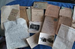 Lot De Documents Et Photos Militaires - Dokumente