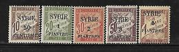 CD154  Syrie De 1924 Taxe N°22 à 26 N+ - Syrie (1919-1945)