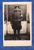 CPA Photo - Beau Portrait Du Poilu A. JAU ( Voir Signature Au Verso )- Soldat Fusilier Marin ? Uniforme WW1 Brassard - War 1914-18