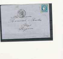 N°45 BORDEAUX SUR LETTRE NUANCE ET OBLITERATION. - 1870 Bordeaux Printing
