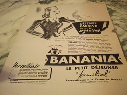 ANCIENNE PUBLICITE DEFENCE PASSIVE BANANIA 1940 - 1939-45