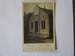 TEMPLE D'EVELETTE CONSACRE PAR MERE ANTOINE LE 31 OCTOBRE 1926 - Belgique