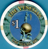 $1 Casino Chip. Venetian, Las Vegas, NV. I07. - Casino