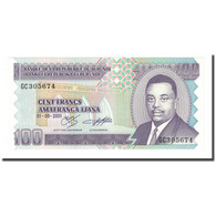 Billet, Burundi, 100 Francs, 2001-08-01, KM:37c, NEUF - Burundi