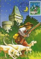 """12.05.1997  -  Contes Et Légendes Du Luxembourg  """" Le Chasseur De Hollenfels """"  Dessin  Cecilia Bozzoli Lausanne - Cartes Maximum"""