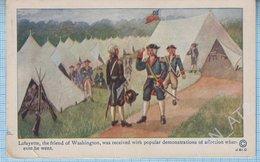 USA / Ancient Post Card / Lafayette And George Washington. Militaria. 1914 - Vereinigte Staaten