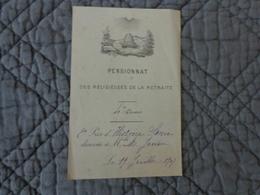 Pensionnat Des Religieuses De La Retraite-4 Eme Cours-2 Eme Prix Histoire Sacrée   19/7/1907-marie Juvin - Diploma & School Reports
