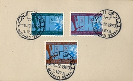 1963 , LIBIA / LIBYA , 15 TH. ANIVERSARIO DE LA DECLARACIÓN DE DERECHOS HUMANOS , BENGHAZI - BERKA - Libya