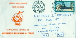 1963 , CONGO / BRAZZAVILLE - WEST SUSSEX , SOBRE CIRCULADO - Congo - Brazzaville