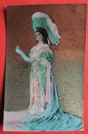 De L'ESPELLE SCALA Chanteuse Café-Concert  Artiste Femme Chapeau - Künstler