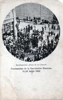 TURQUIE - Proclamation De La Constitution Ottomane, 11 / 24 Juillet 1908 Manifestation Place De La Liberté 1 Angle Coupé - Turquie