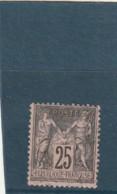 ///  France Type Sage N° 97 -- 25 Cts Gris Sur Rose Côte 2 € - 1876-1898 Sage (Tipo II)