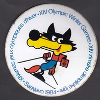 Olympic Games Sarajevo 1984 / Mascot Vucko, Alpine Skiing / Adesivo Sticker Label Autocollant - Apparel, Souvenirs & Other
