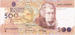 PORTUGAL-2 NOTAS DE 500$00 CH .12 - 04-08-1988 E 13-02-1992. - Portugal