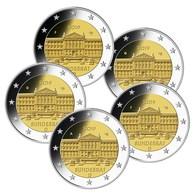 Allemagne 2019 : 2€ Commémorative 'Bundesrat à Berlin' (lot Des 5 Ateliers A/D/F/G/J En UNC) - Allemagne