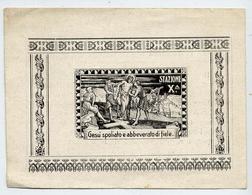 Santino - Gesù Spoliate Abbeverato Di Fiele - Stazione X - At1 - Devotion Images