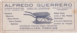 SECANTES BLOTTERS CIRCA 1925 ALFREDO GUERRERO CASA DE COMPRAS. PUBLICIDAD ADVERTISING - BLEUP - Blotters