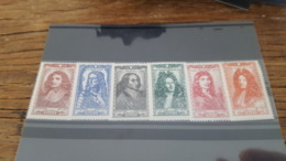 LOT 438626 TIMBRE DE FRANCE NEUF** LUXE N°612 A 617 - France