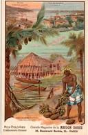 Etablissements D'Océanie - Nos Colonies - Raiatea Tahaa Papeete - Carte De La Maison Dorée - 2 Scans - Polynésie Française