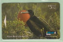 Fiji - 1996 Fijian Birds - $3 Frigate Bird - FIJ-076 - VFU - Fiji