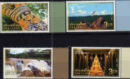 THAILAND, 2018, MNH,UNSEEN THAILAND, WATERFALLS, TREE DECORATION CEREMONY, TEMPLES, BUDDHISM, 4v - Holidays & Tourism